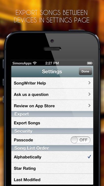 Song-Writer: Write Note Lyrics screenshot-4