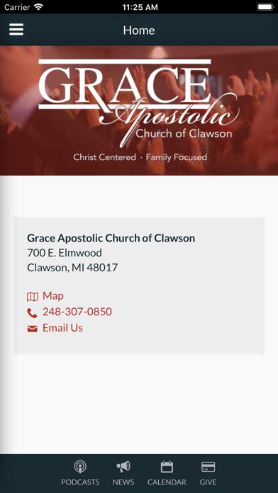 Grace Apostolic Church Clawson - App - iOS me