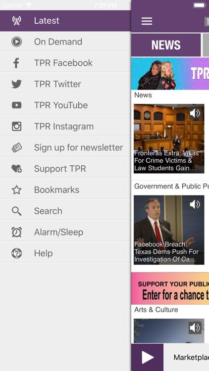 Texas Public Radio App