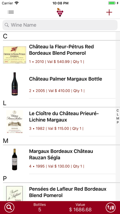 Wine Cellar Database Screenshot