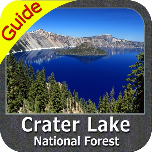 Crater Lake National Park gps and outdoor map