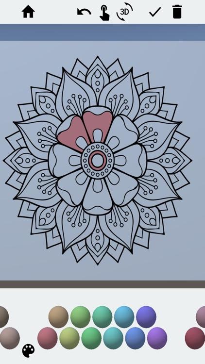 3D Adult Coloring Book Pro screenshot-8
