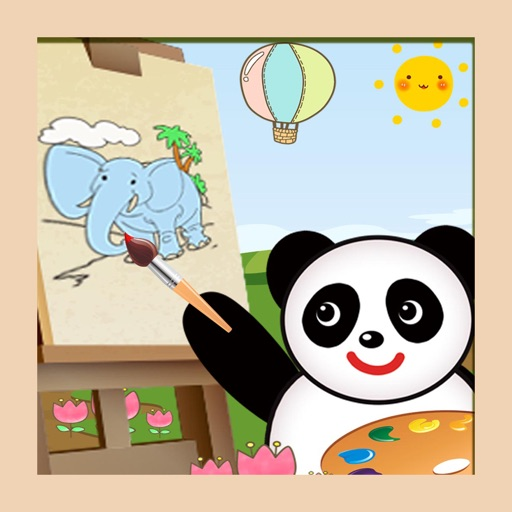 Panda coloring  and  stickers