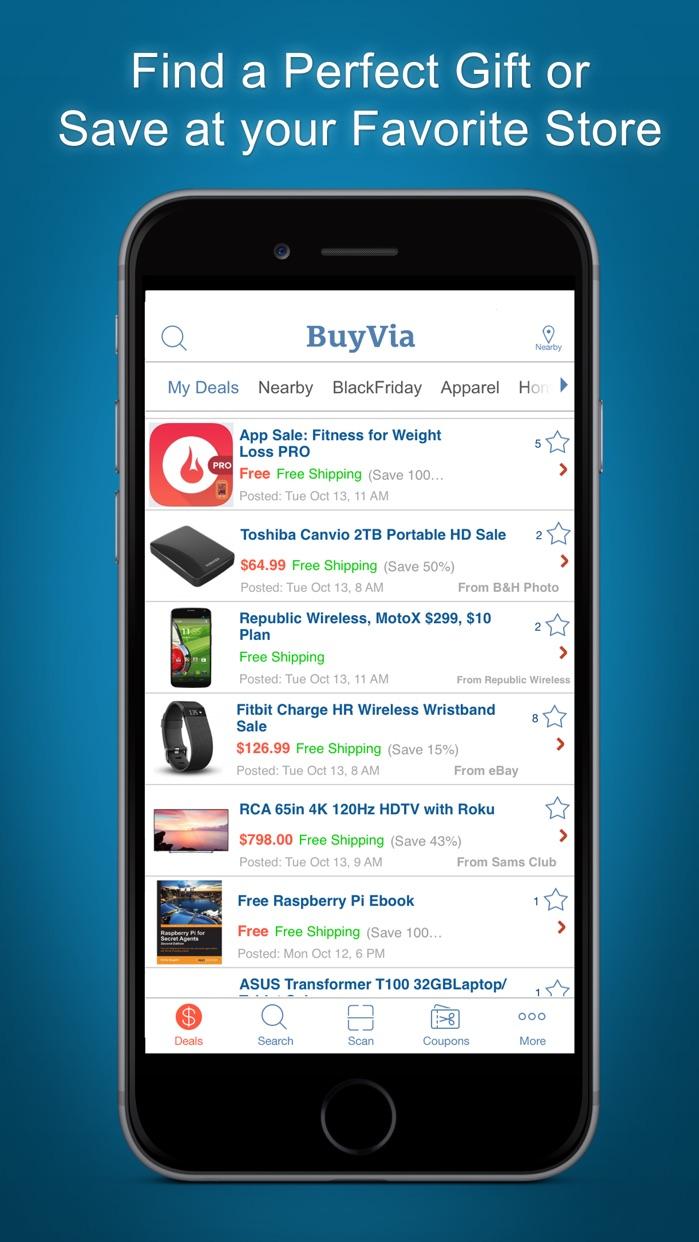 BuyVia - Best Deals, Shopping Screenshot