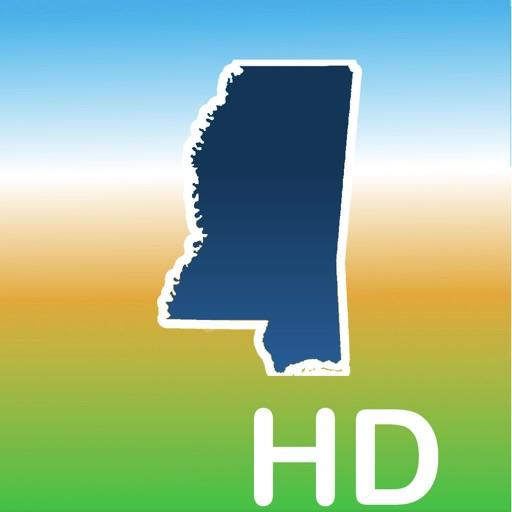 Aqua Map Mississippi Lakes HD