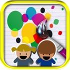 QCat - de color doodle drenaje icon