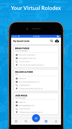 Snapcard business cards on the app store colourmoves