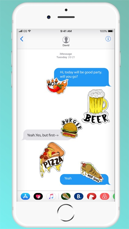 Foodie Message - Free Stickers screenshot-3