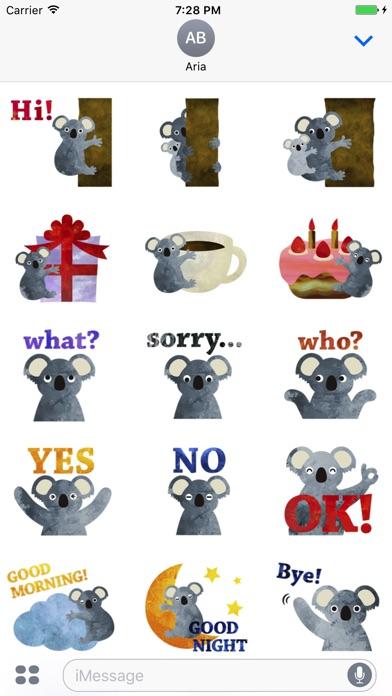 Adorable Koala Emoji Sticker screenshot 1