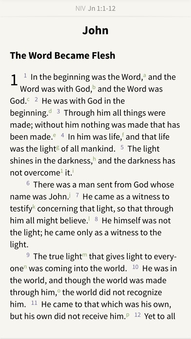 NIV Bible by Olive Tree screenshot one