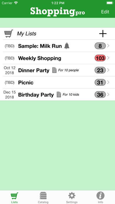 shopping pro grocery list app price drops