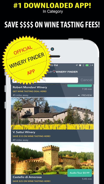 Napa Valley Winery Finder REAL screenshot-1