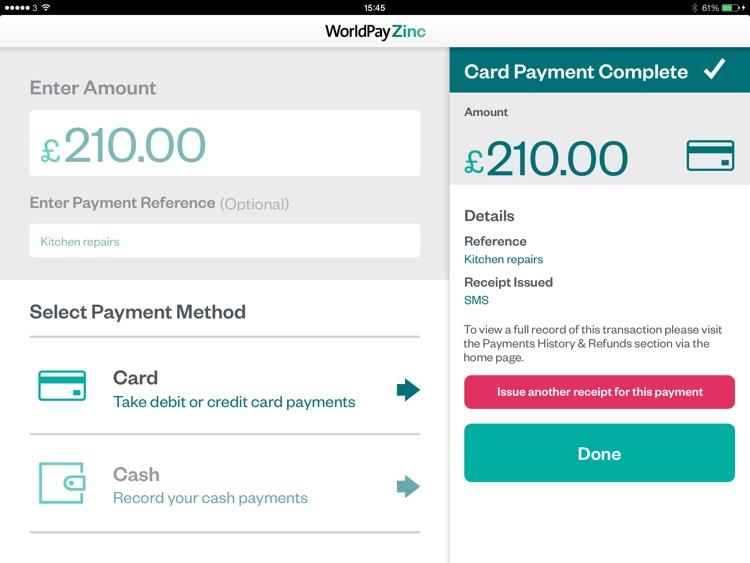 World Pay Zinc >> Worldpay Zinc For Ipad By Worldpay Uk Ltd