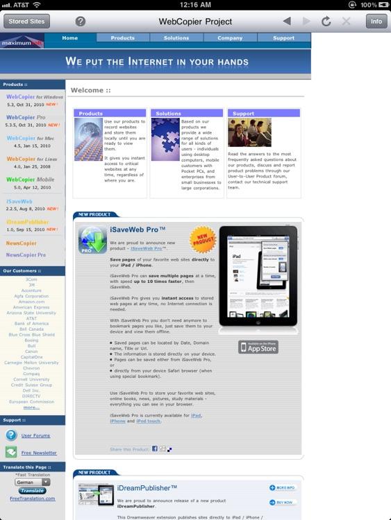Sites-2-Go HD screenshot-4