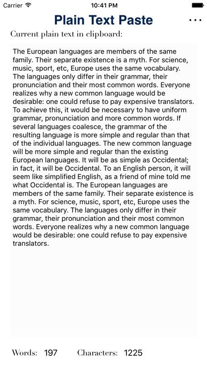 Plain Text Paste screenshot-3