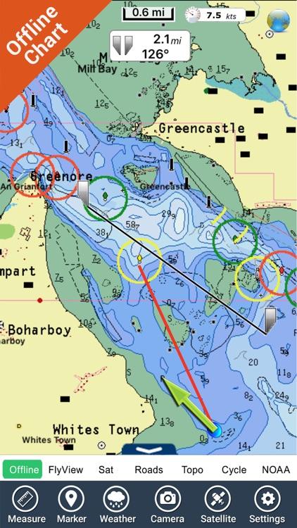 Marine : Ireland HD - GPS Map Navigator