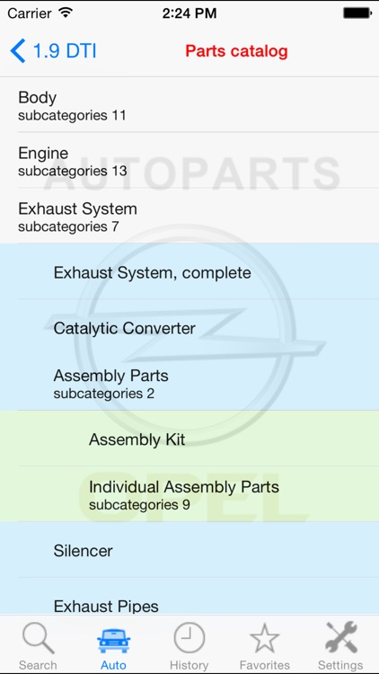 Autoparts for Opel screenshot-0