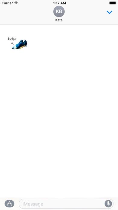 Watercolor Betta Fish Sticker screenshot two