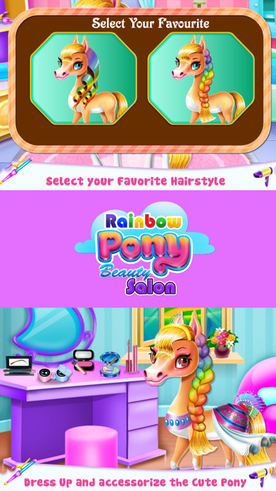 Rainbow Pony Beauty Salon Screenshot