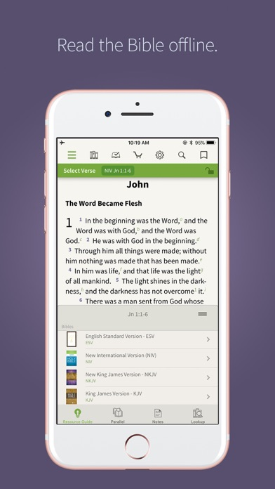 Screenshot for Bible † in United States App Store