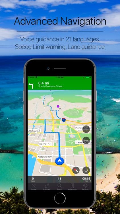 Hawaii, USA Offline Navigation screenshot-3