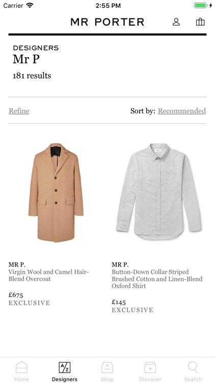 MR PORTER   Luxury Fashion screenshot-3