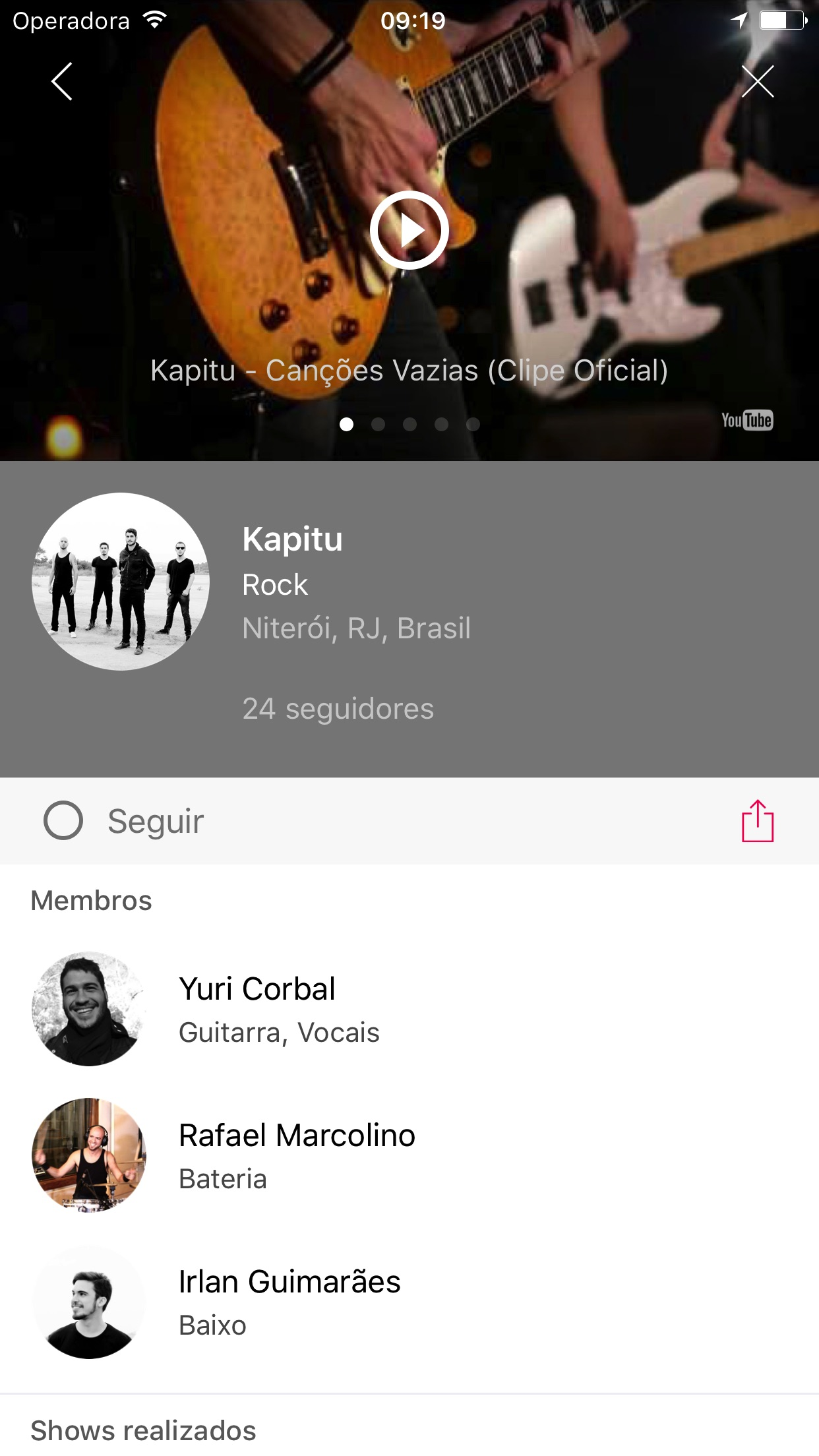 Screenshot do app Sound Club