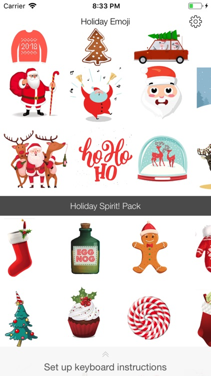 Holiday Emoji Stickers screenshot-2