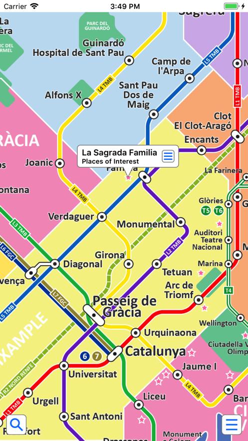 Barcelona Metro by Zuti App 截图