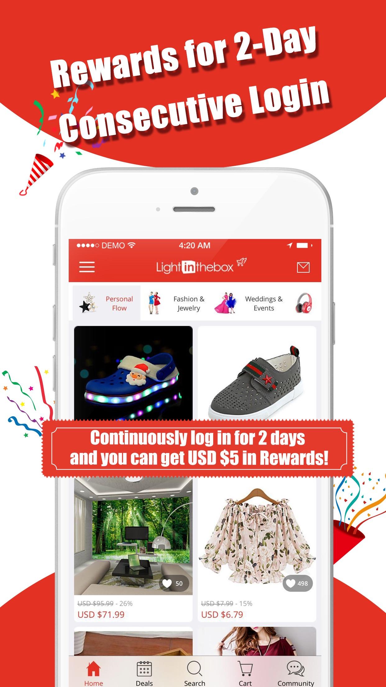 Lightinthebox-Online Shopping Screenshot