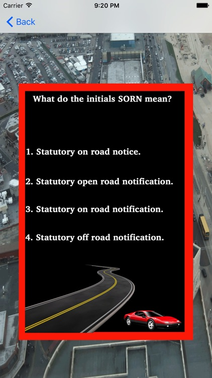 Theory Test For Learner Car Drivers & Road Signs screenshot-0