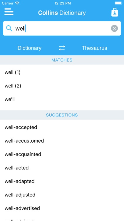 Collins Dictionary & Thesaurus screenshot-1