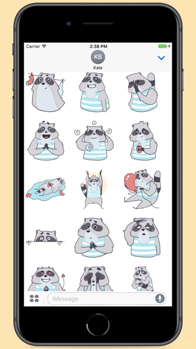 Screenshot for Raccoon Tom Stickers in Colombia App Store