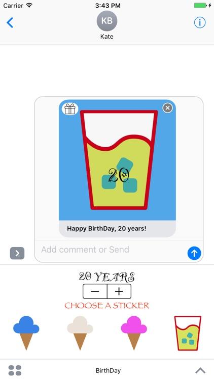 BirthDay - Stickers screenshot-3