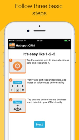 Business card reader 4 hubspot on the app store screenshots reheart Images