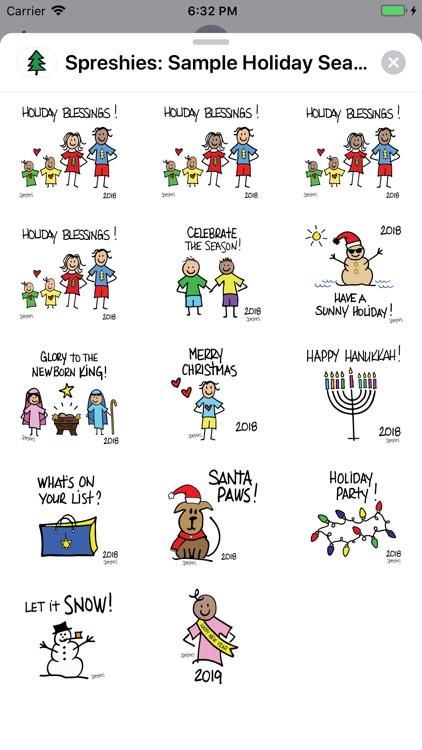 Spreshies: Sample 2018 Holiday