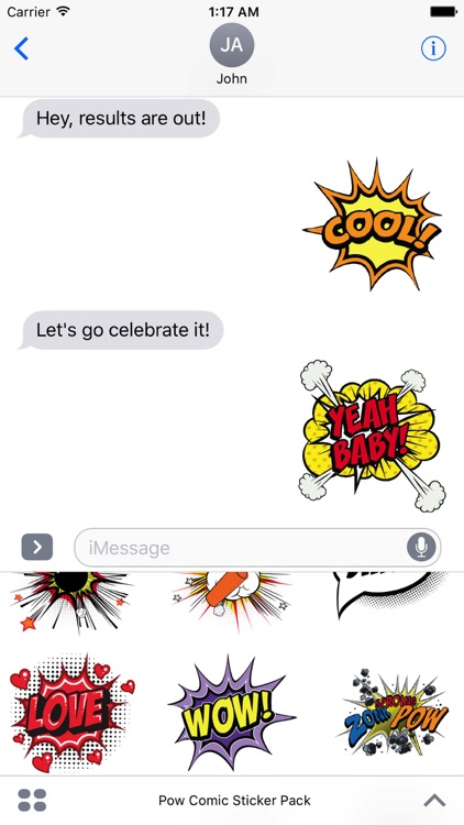 Pow Comic Sticker Pack screenshot-1