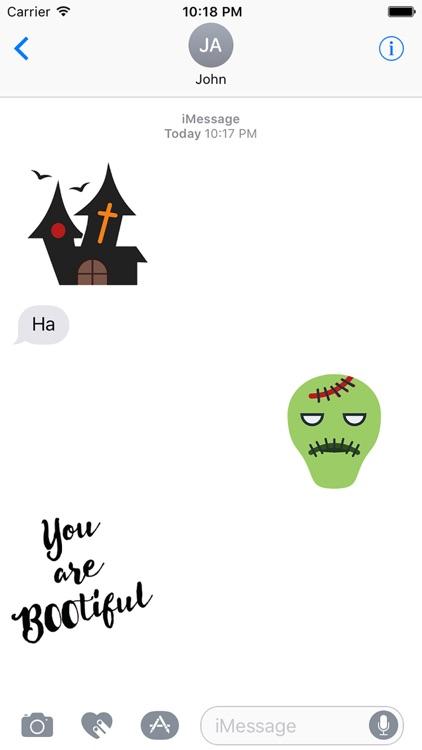 Cute Halloween Stickers screenshot-3