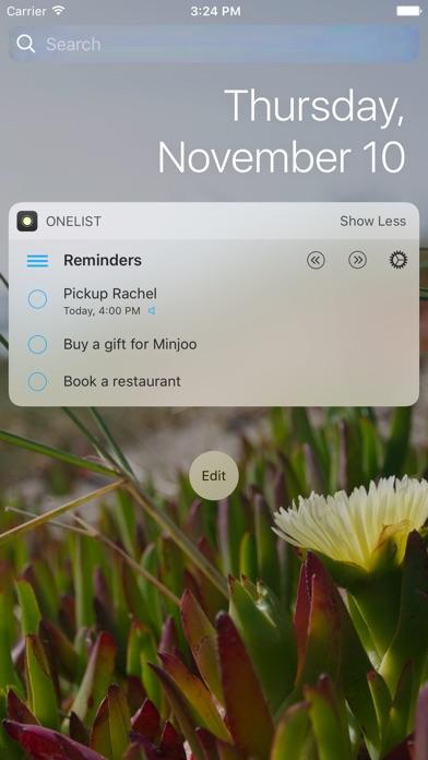 OneList - Reminders Widgetのスクリーンショット