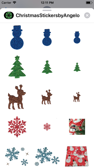 Christmas Stickers by Angelo