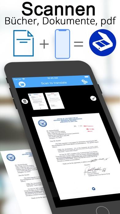 Scanner Dokumenten übersetzerScreenshot von 1