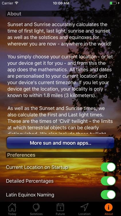 Sunset and Sunrise Times screenshot-4
