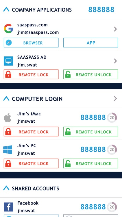 SAASPASS Authenticator App 2FA