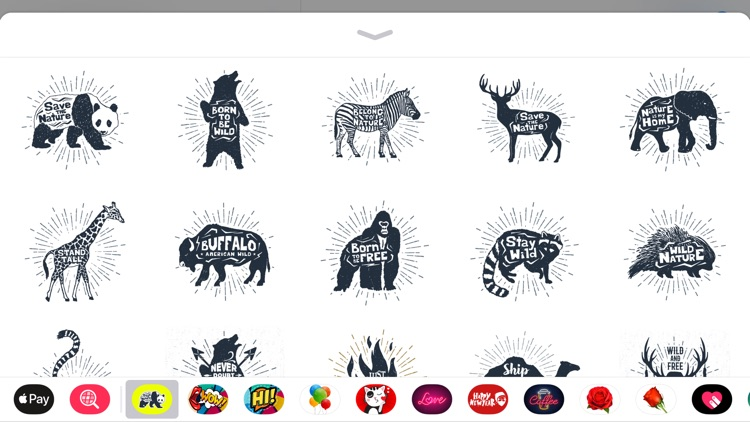 Ink Wildlife Quote Sticker App screenshot-3