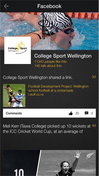 College Sport Wellington screenshot-3