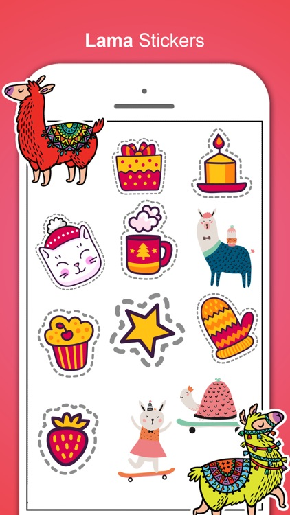 Llama Love Stickers screenshot-2