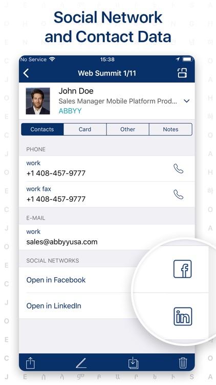 Business Card Scanner & Reader screenshot-3
