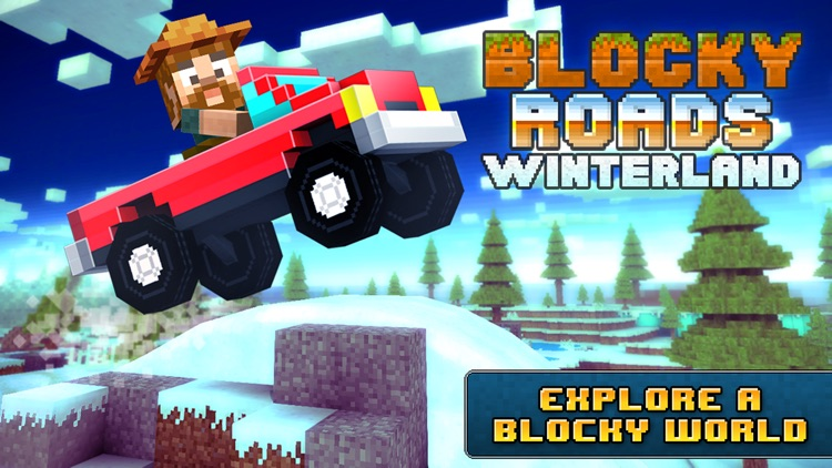 Blocky Roads Winterland screenshot-0