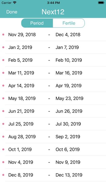 iPeriod Period Tracker + screenshot-8