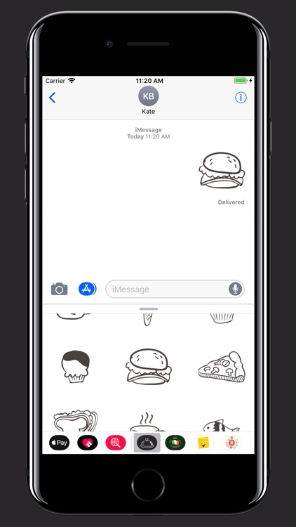 Hand drawn food: Eat and Drink screenshot-4